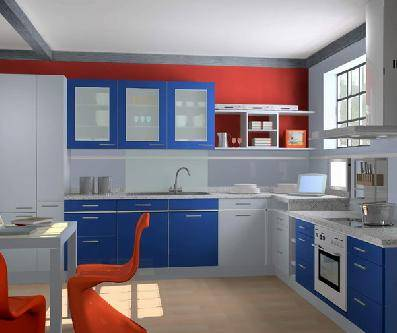 整体厨柜效果图
