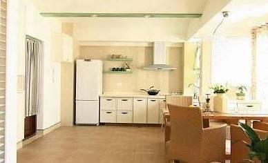 开放式厨房整体吊顶设计