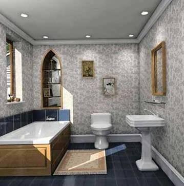 长方形淋浴房装修效果-卫浴装修效果图-掌握五大要点 十分钟精通卫浴装修高清图片