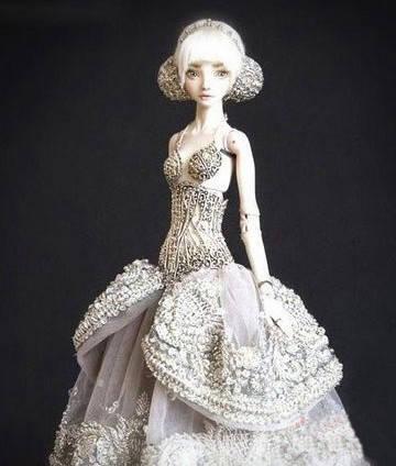 超萌的芭比娃娃    俄罗斯的娃娃雕塑制作艺术家