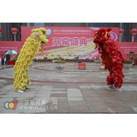 接踵而来的是代表着兴隆、吉祥的民间传统表演舞狮子,现场气氛也随着这对充满生气的狮子打到了顶峰!