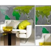 彩色世界地图背景墙