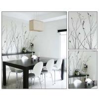 抽象树木图案背景墙