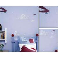 天空飞机背景墙