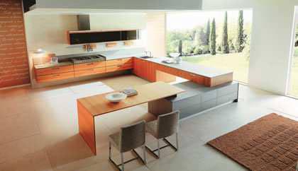 簡約櫥櫃打造簡約高雅的廚房生活