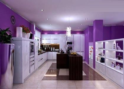 橱柜紫色小户型
