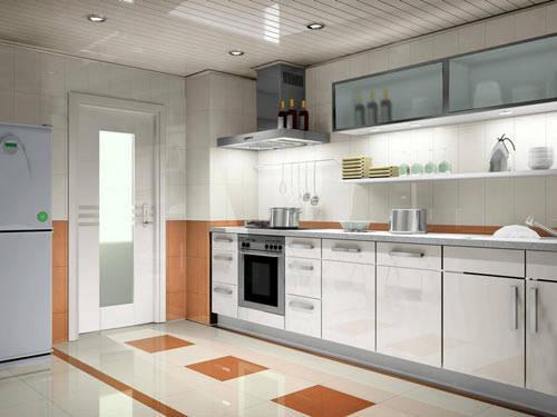 时尚的厨房样板间效果图