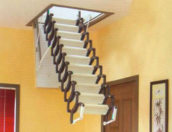 伸缩自如 阁楼楼梯的方便与美感的提升(图)