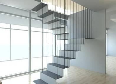 悬浮楼梯新设计 享受视觉上的冲击力(图)