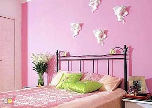 粉色涂料装修效果图 温馨甜蜜