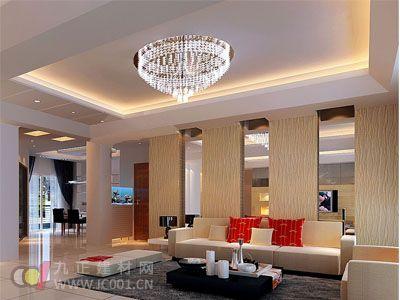 2013客厅水晶灯装修效果图