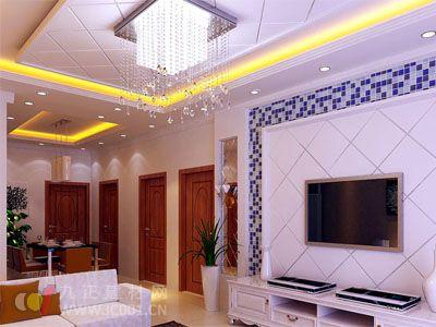 2013客廳水晶燈裝修效果圖
