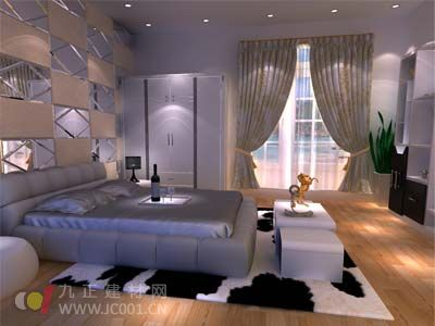 2013年卧室窗帘装修效果图