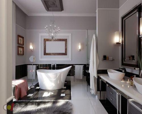 要.一般来说,长方形浴缸最适合小平米空间高清图片