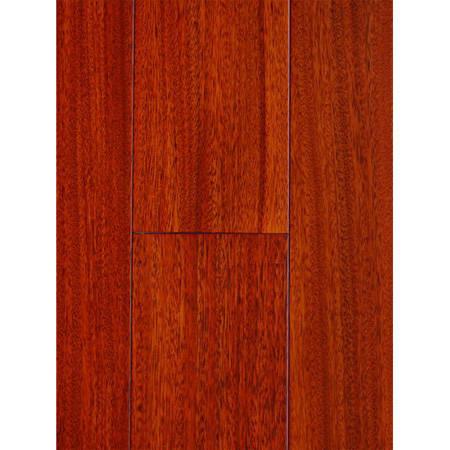 南京地板-南京实木地板-欣宜实木地板-圆盘豆红色