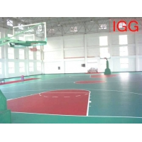 江西南昌篮球场羽毛球场网球场乒乓球场地专用PVC塑胶运动地板