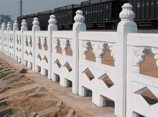 石材栏杆,石材雕刻汉白玉栏杆