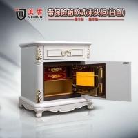嵌有保险箱床头柜 指纹保险箱 欧式床头柜
