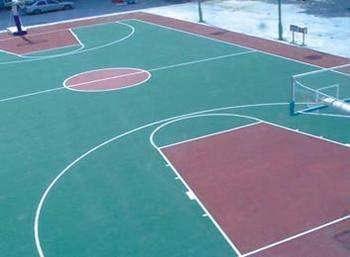 桐庐塑胶篮球场 塑胶网球场地坪铺设产品图片,桐庐塑胶篮球场 塑胶