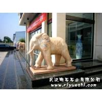武汉石雕大象/石狮子/石雕狮子/汉白玉石狮子