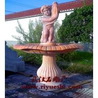 晚霞红石雕喷泉/武汉石雕喷泉/风水球喷泉