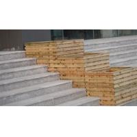 碳化防腐木制六角木花盆