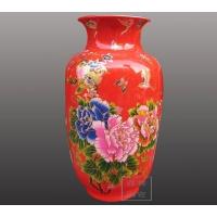 花瓶,中国红花瓶,中国红陶瓷花瓶,陶瓷花瓶价格,