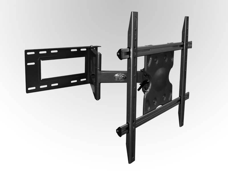 """产品描述 SP3悬臂式平板电视机壁挂支架 名称:SP3悬臂式平板电视机壁挂支架 1.可调节幅度大,可上下左右及前后多方向调节满足客户观看需要 2.有完整的挂线装置 3.外观美观,高贵 4.有显示器安装锁紧机构,显示器安装及拆卸安全、方便 5.可调角度满足不同角度观看的需求.有锁紧把手可固定调节好的角度 可调角度:无限制 VESA:无限制 承重:125 lbs max 适用于:32""""-42"""" LCD"""