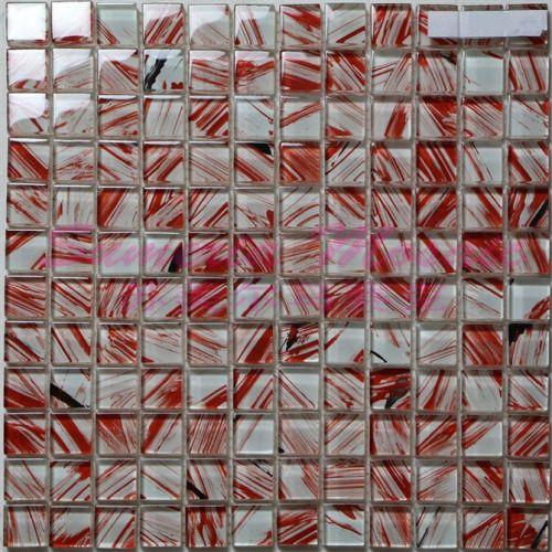 东莞最好手绘红色水晶马赛克