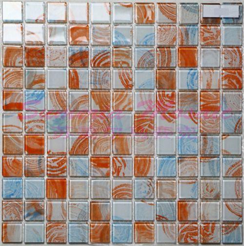 大量批发彩色手绘水晶马赛克款式多样