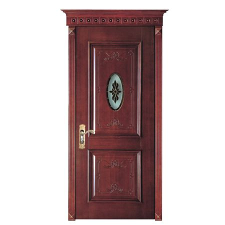 原木雕花烤漆门.高雅名门