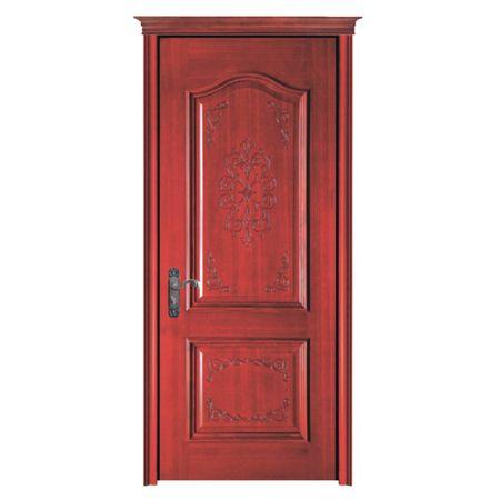 好万家原木雕花烤漆门财富之门为您而开