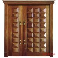 原木浮雕烤漆门门中极品