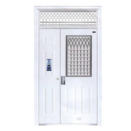 半腰不锈钢花窗楼寓门丨陕西西安百家防盗门