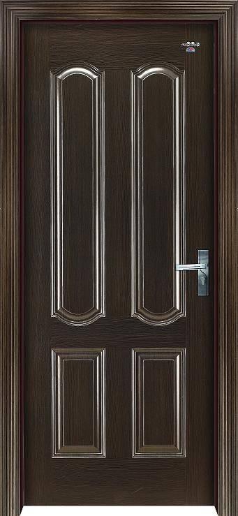 星星套装门-黑檀木新四框欧式