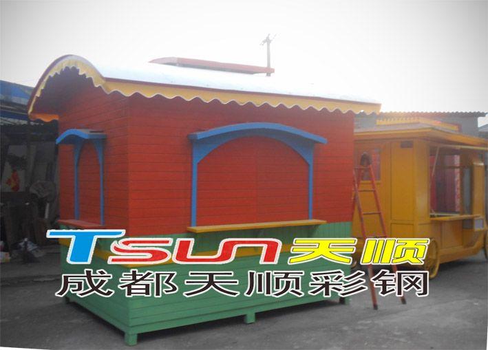 成都防腐木售货亭,成都天顺彩钢专业制作