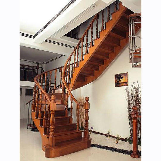 实木楼梯—欧式风格; 欧式木楼梯效果图图片分享;