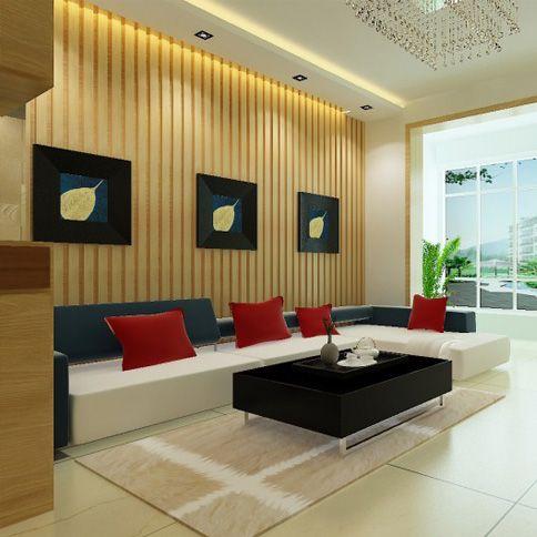 绿中生态木吸音板 电视背景墙板