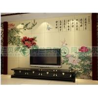 阿兰贝尔时尚个性陶瓷背景墙 精雕细琢雍容华贵精雕电视背景墙