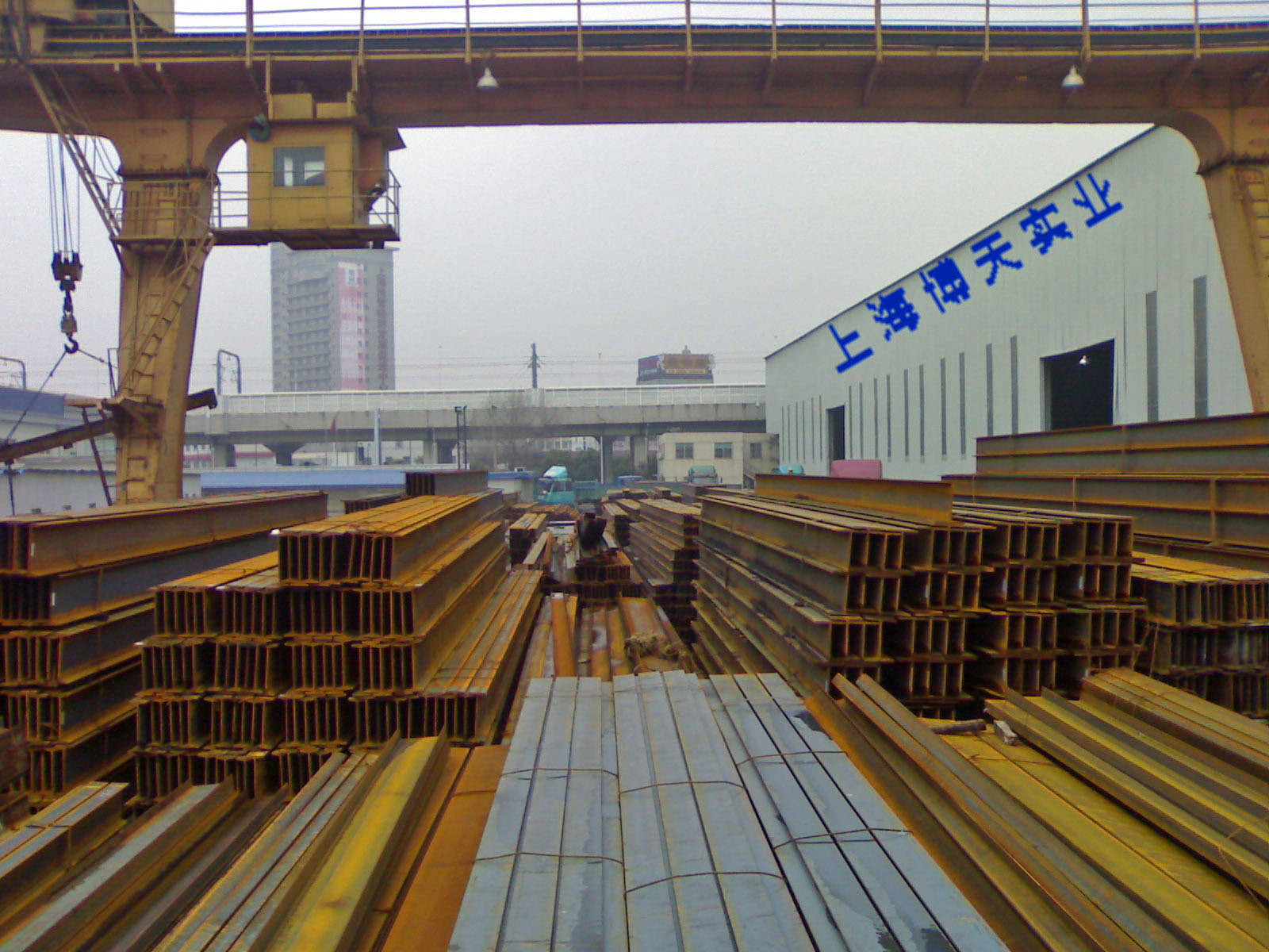 中国 上海 型钢/工字钢槽钢H型钢等钢材仓储