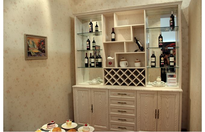 餐厅家具+整体酒柜+书柜大型a整体建筑设计图片