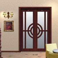美升 中式平移玻璃门 实木复合书房门11-147