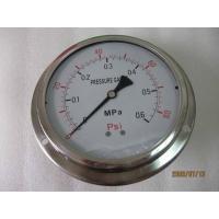 150MM轴向带边油压表