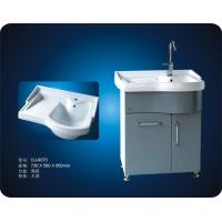 洗衣柜9073/陶瓷台盆/内带有一体式洗衣板