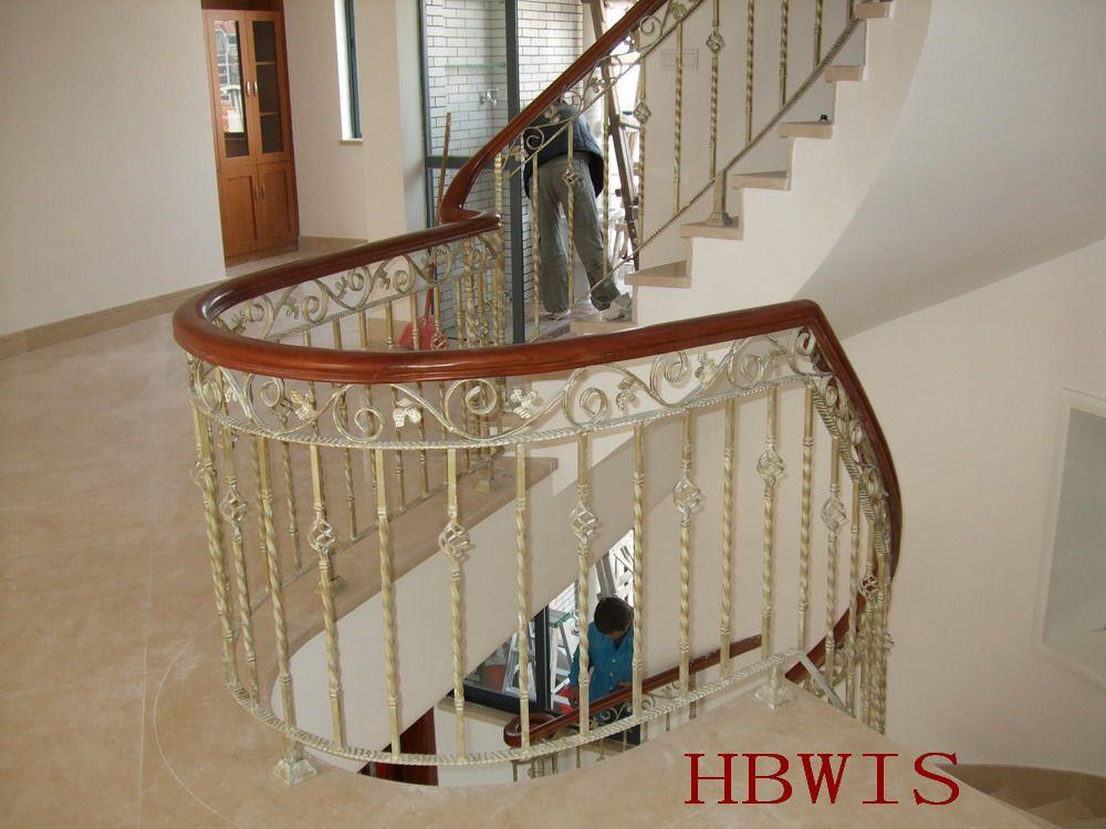 木铁楼梯扶手,铁艺栏杆,镀锌室外围栏