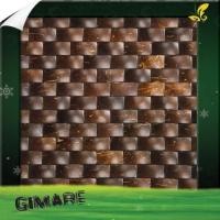 椰壳马赛克背景墙 装饰板 饰面板