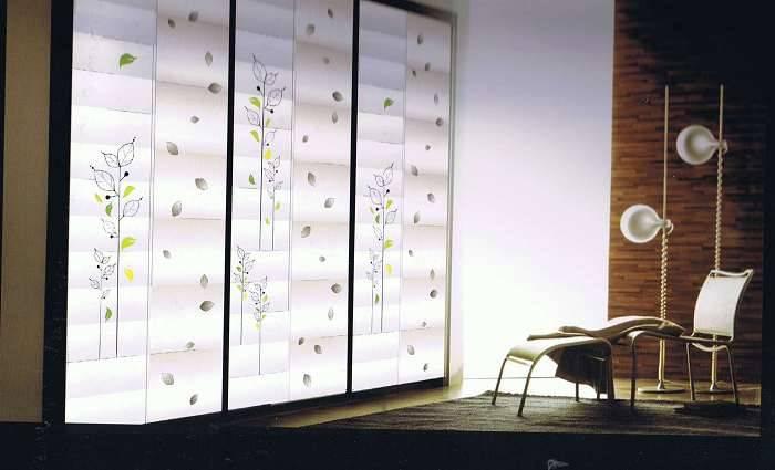 玻璃雕花推拉门006 - 哈尔滨玻璃门