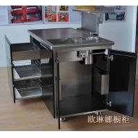 不锈钢台面 不锈钢橱柜 不锈钢操作台 不锈钢橱柜定制