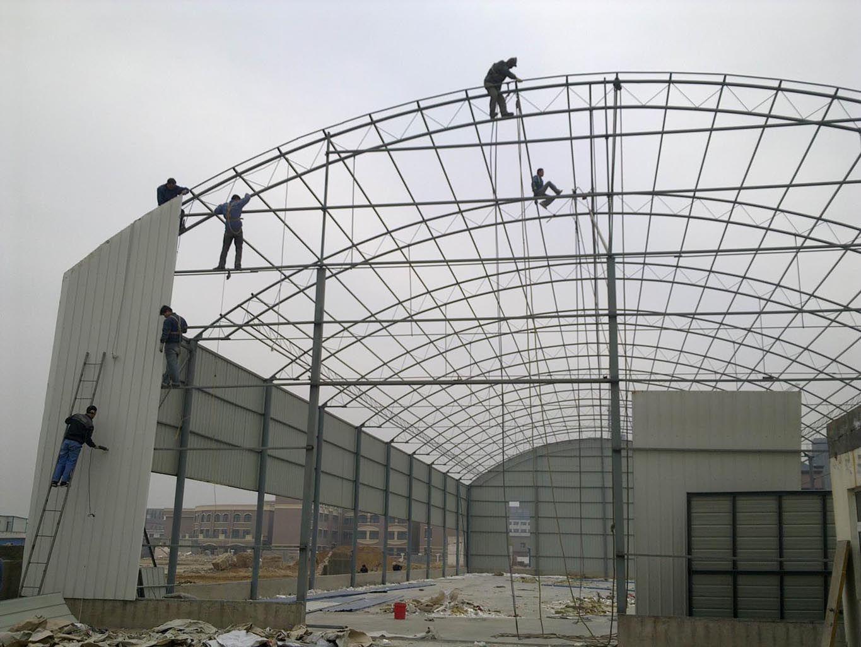 猪棚钢构梁设计图