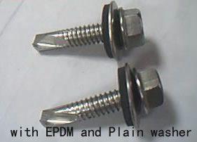 大连辽宁钻尾螺丝复合钻尾螺丝410与304复合钻尾螺钉六角头